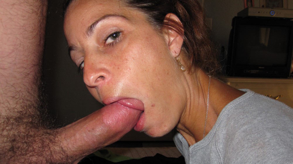 My wife using tongue during blowjob