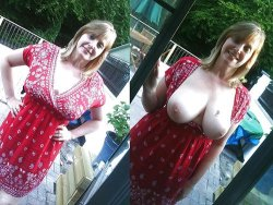 wifebucket | this is how this mature wife flashes people outdoor