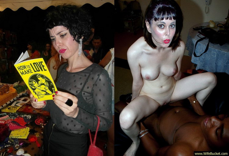 before and after interracial sex pics of a hot MILF wife
