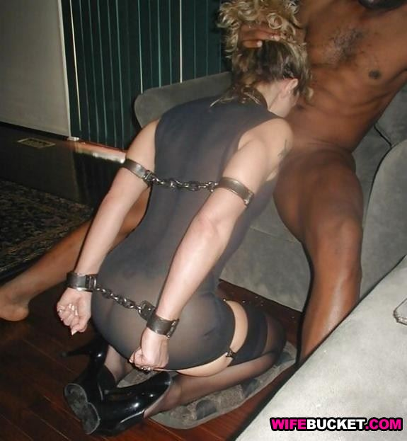 Otngagged black bdsm wife