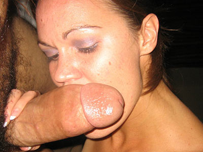 Hot wife gives head to a fat big cock