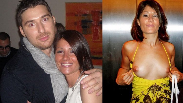 Brunette MILF before-and-after naked pics