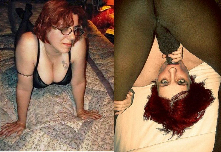 Before&after interracial blowjob pic