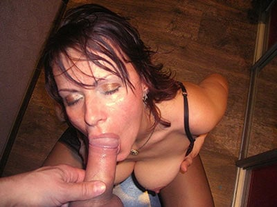 Great head from a bigtit mature wife