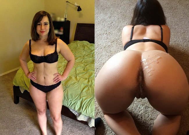 Milf before and after sex