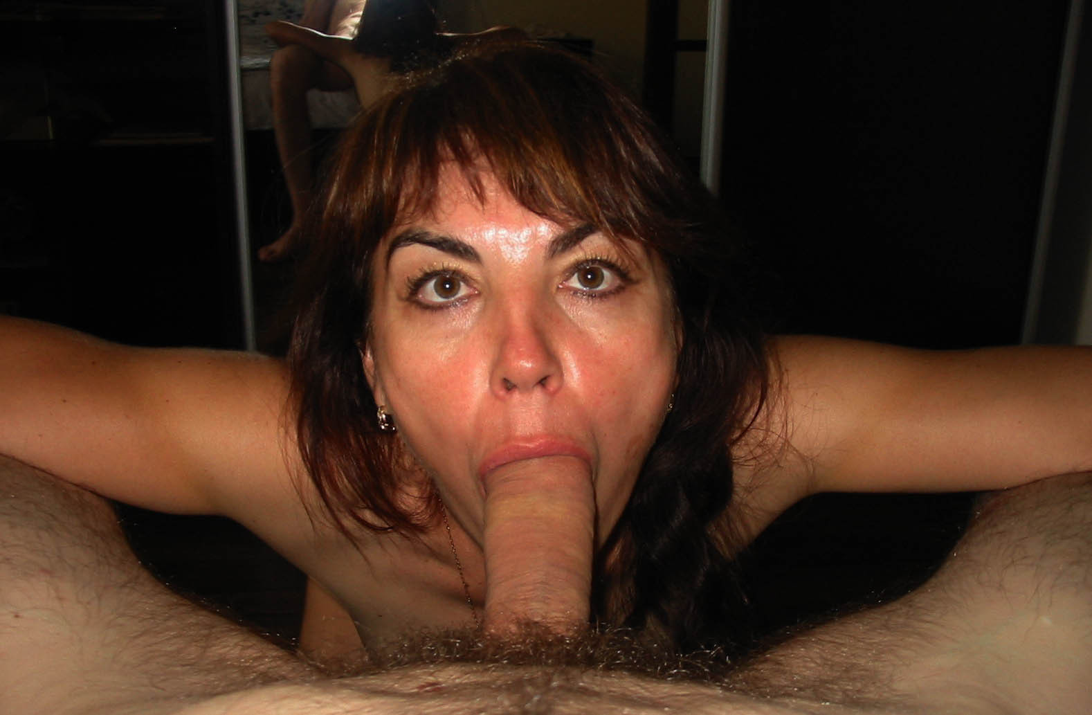 image Amateur wife blowjob with interesting technique