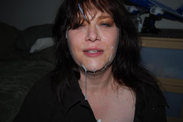 Cheating wife got a big facial