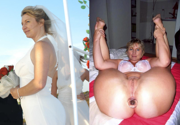 Mature bride on her wedding night