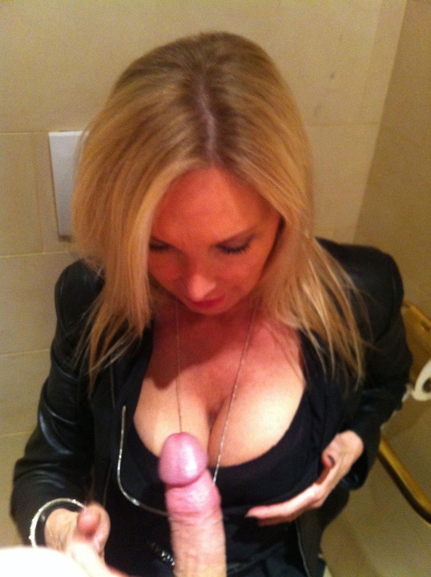 Drunk MILF giving head