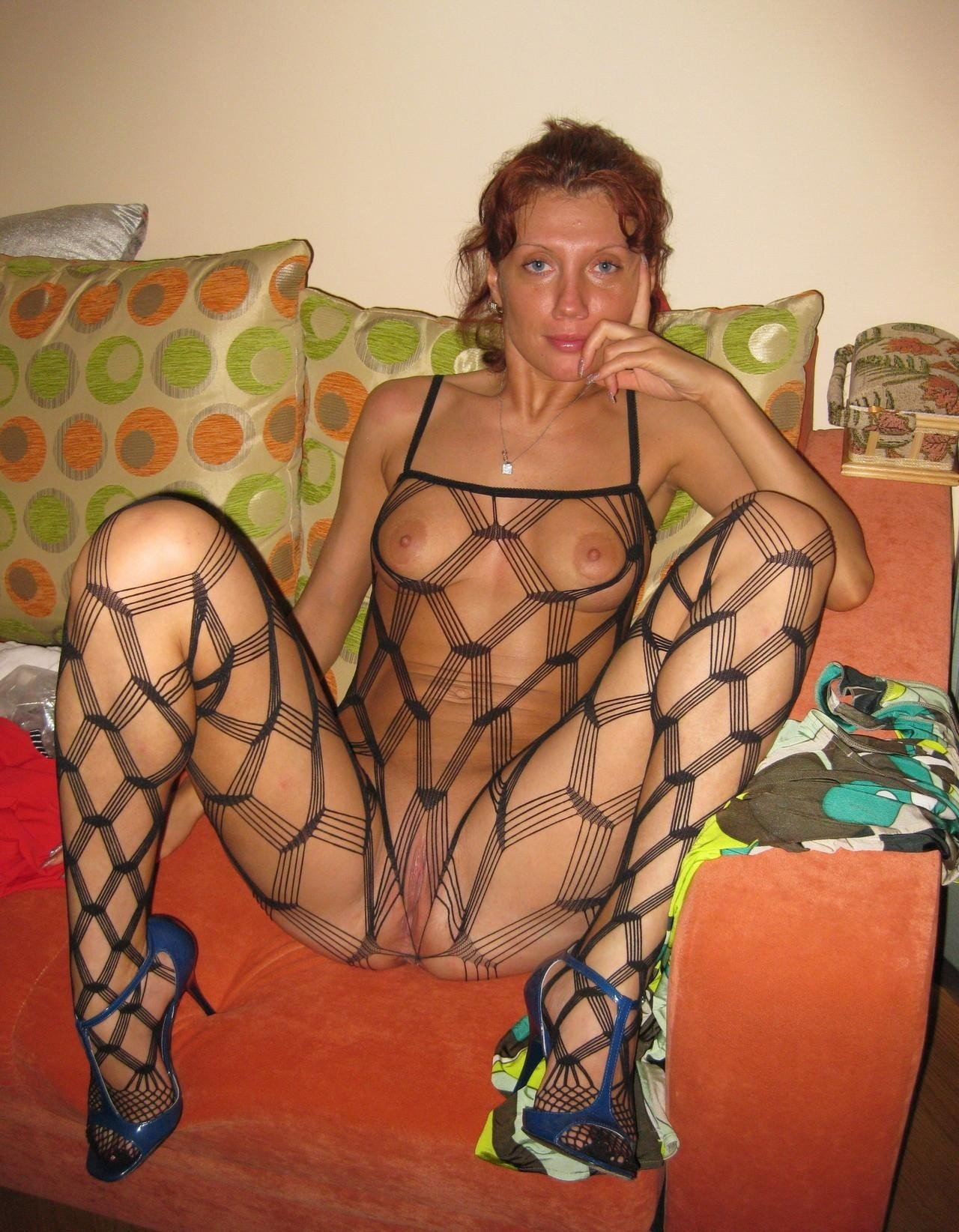 Absolutely one slut in fishnet hot