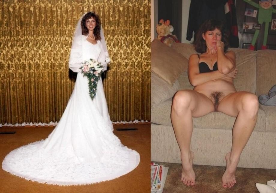 and Amateur bride after before nude
