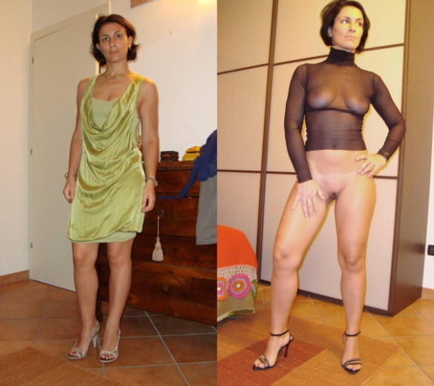 Hot MILF submitted this dressed-undressed pic