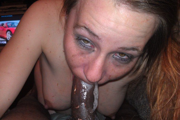 Tired MILF tries to deepthroat a BBC