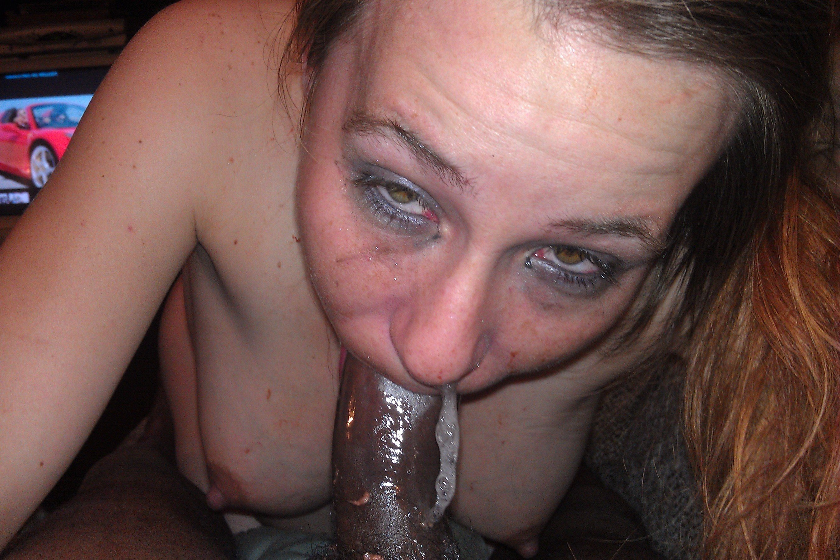 Black milf sucking black dick