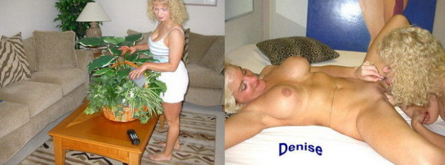 Before-after sex pics from the swinger party