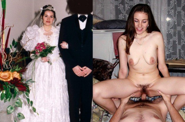 Before-after sex pics from the wedding