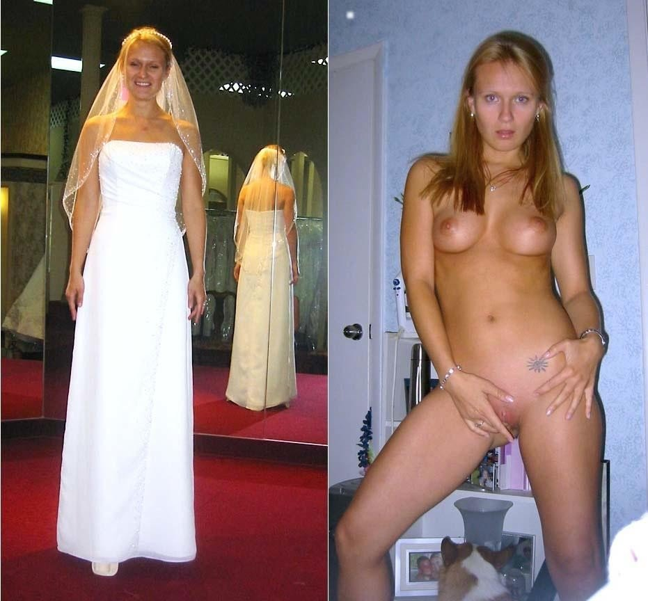 bride dressed undressed