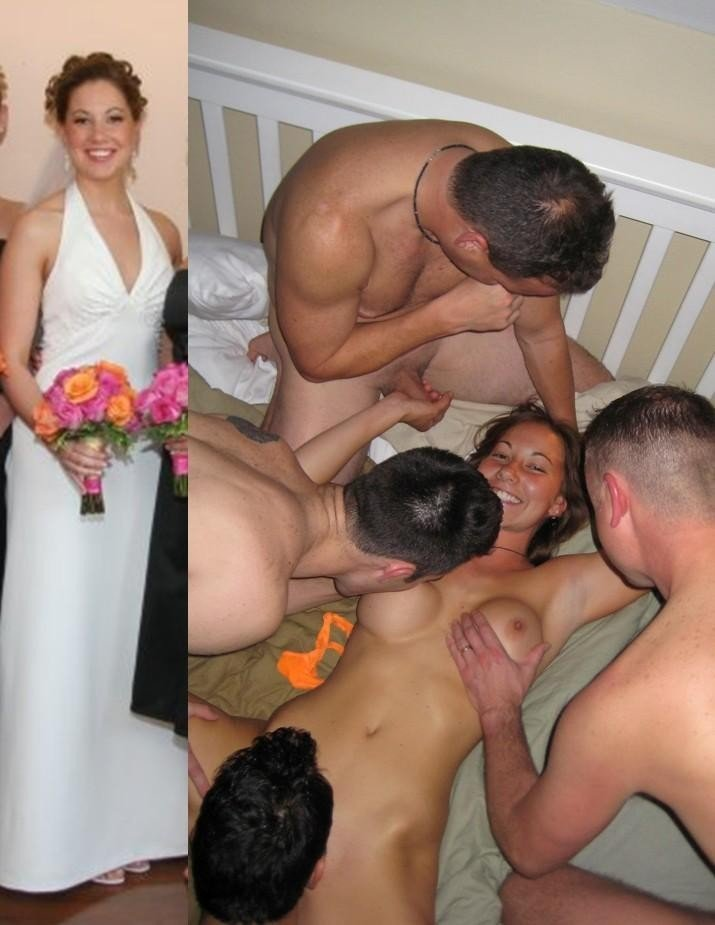 Gangbang and amateur after bride nude before