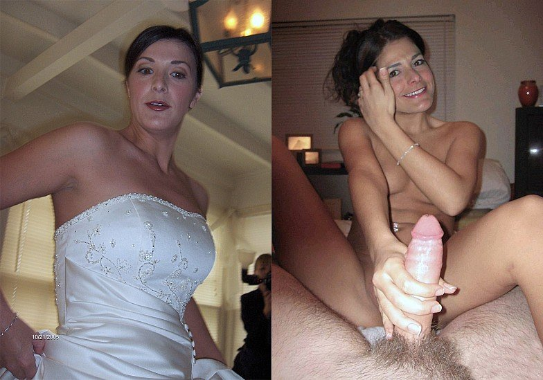 Bride nude before and after amateur gangbang