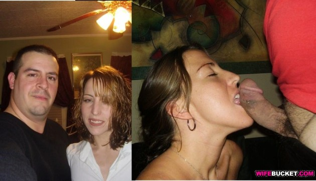 Real couple before-after blowjob photo