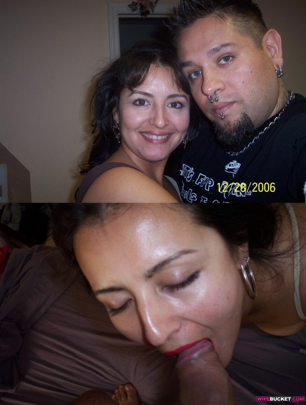 Before-after blowjob pic from a Latina couple