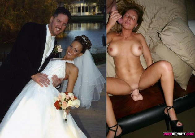 Before-after sex pic of a newly-wed couple