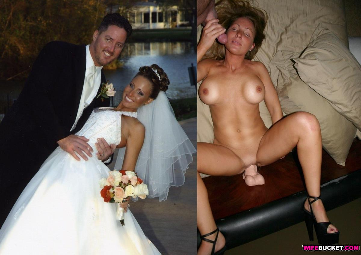 Amateur bride nude before and after