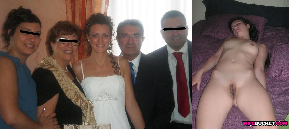 after nude Amateur bride before and