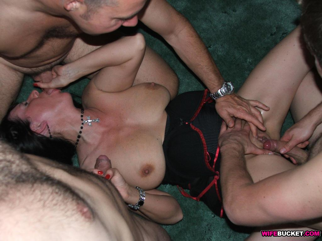 Wife gets naked at swinger party