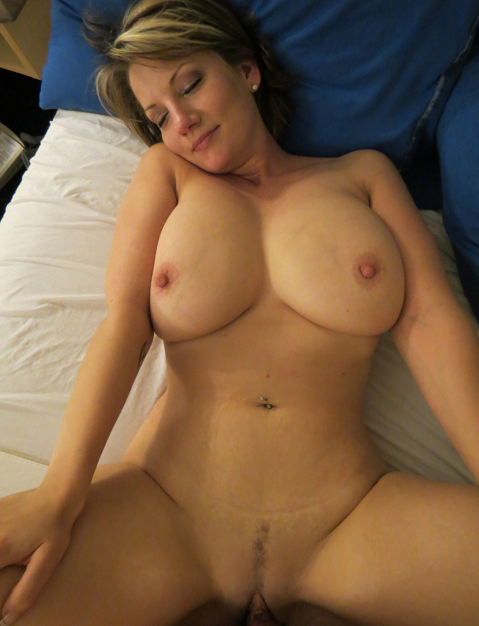 Busty MILF wife having hot sex at home