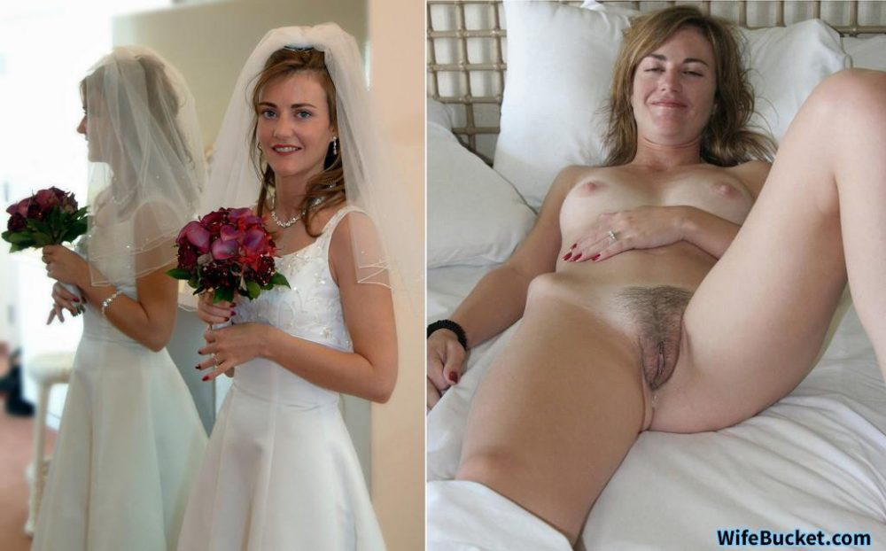 Before-after nudes of a real MILF bride