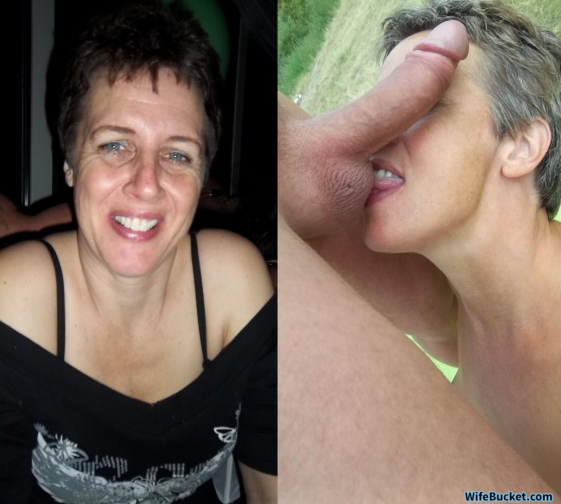 Mature wife cum