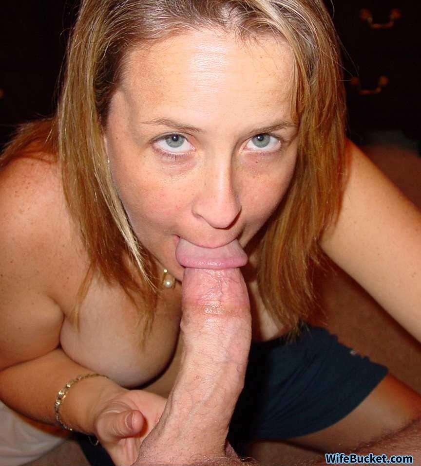 Deepthroating milf wife