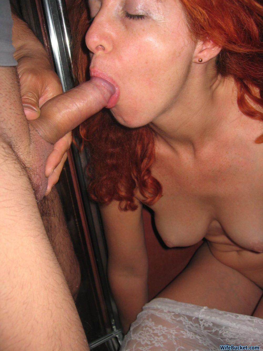 Redhead loving giving head