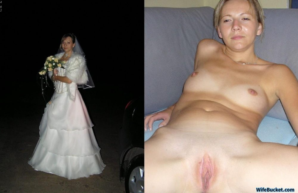 Hot bride before-after nudes