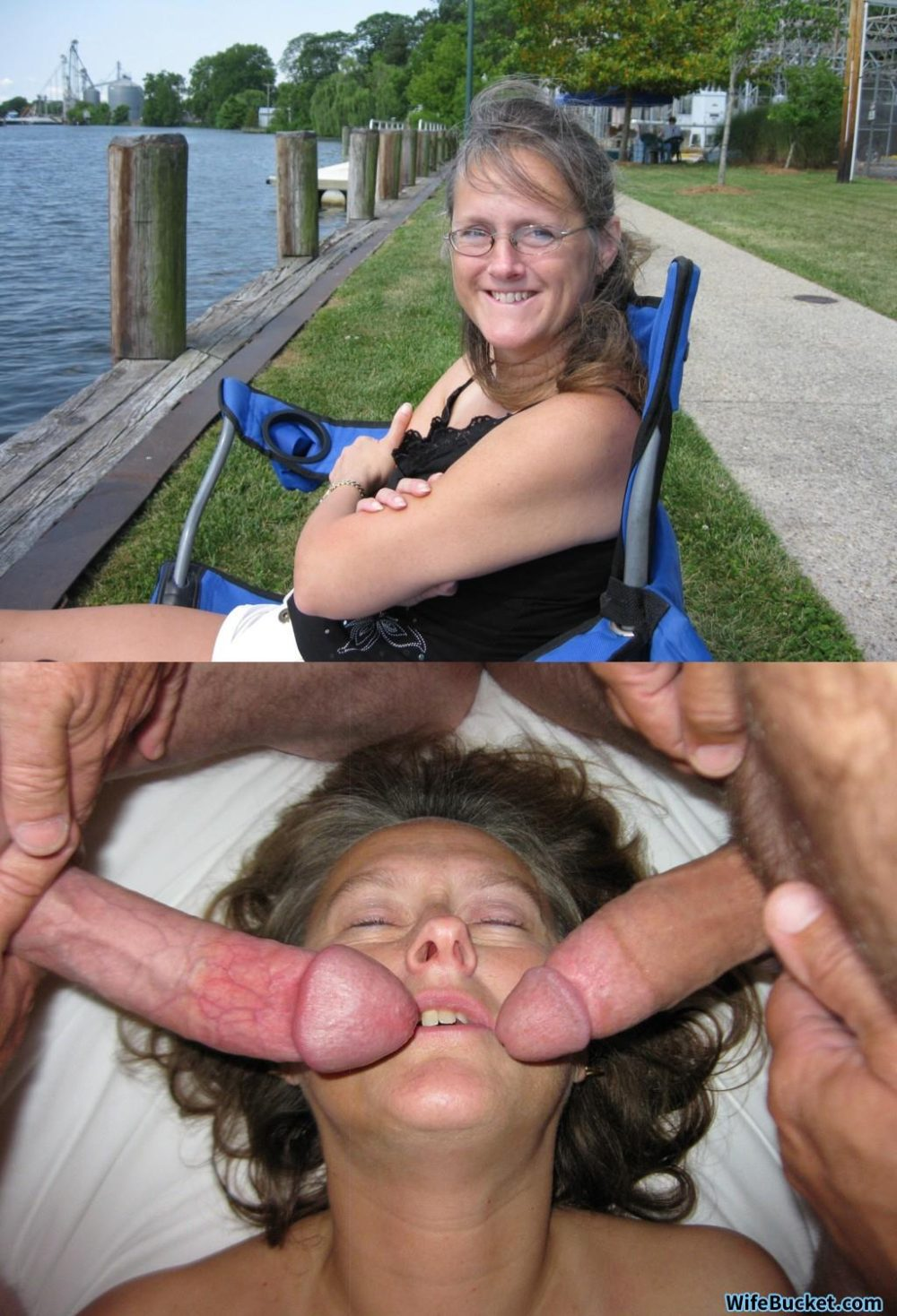 Before and after the gangbang