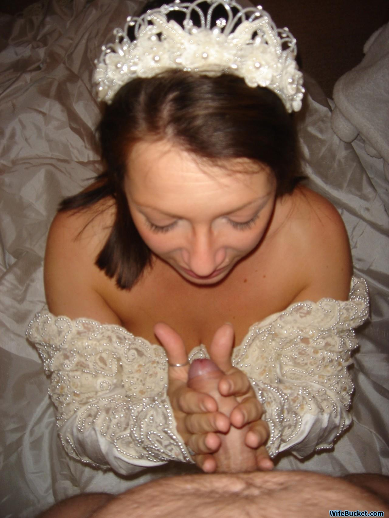 Wedding night blowjob