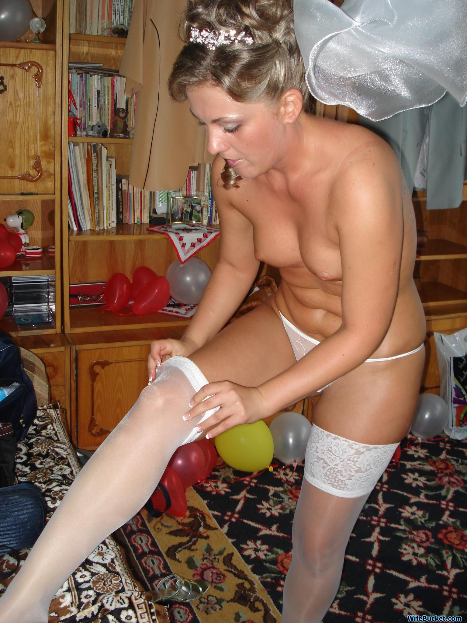 amateur brides getting naked