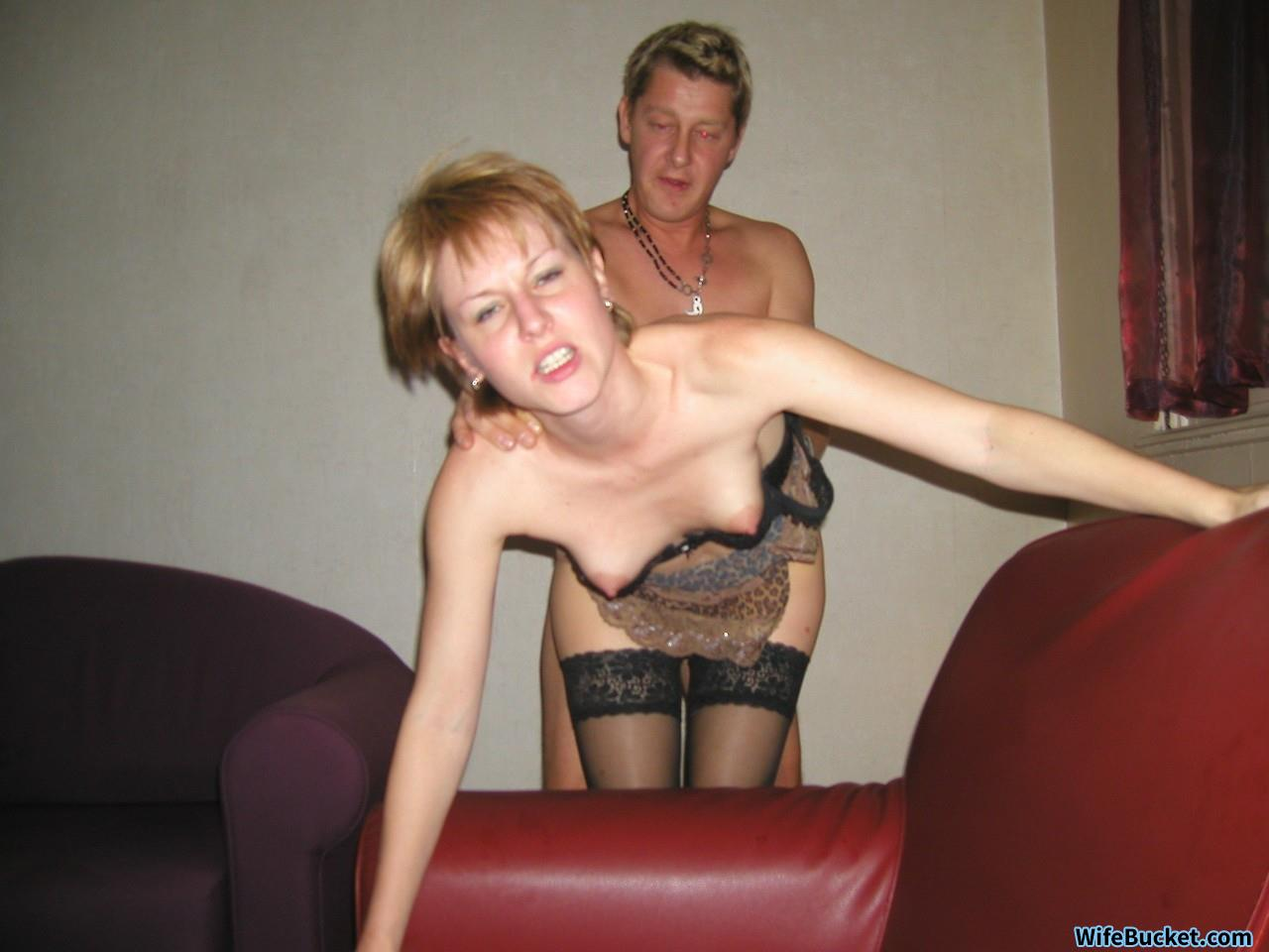 Amateur virgin blonde with panties