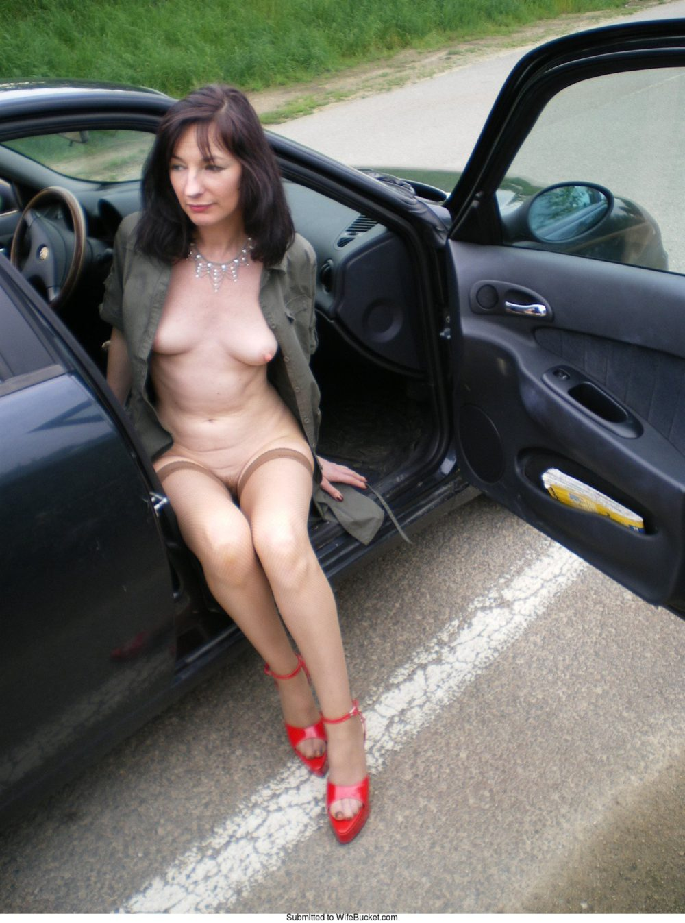Something is. nude milf car sex