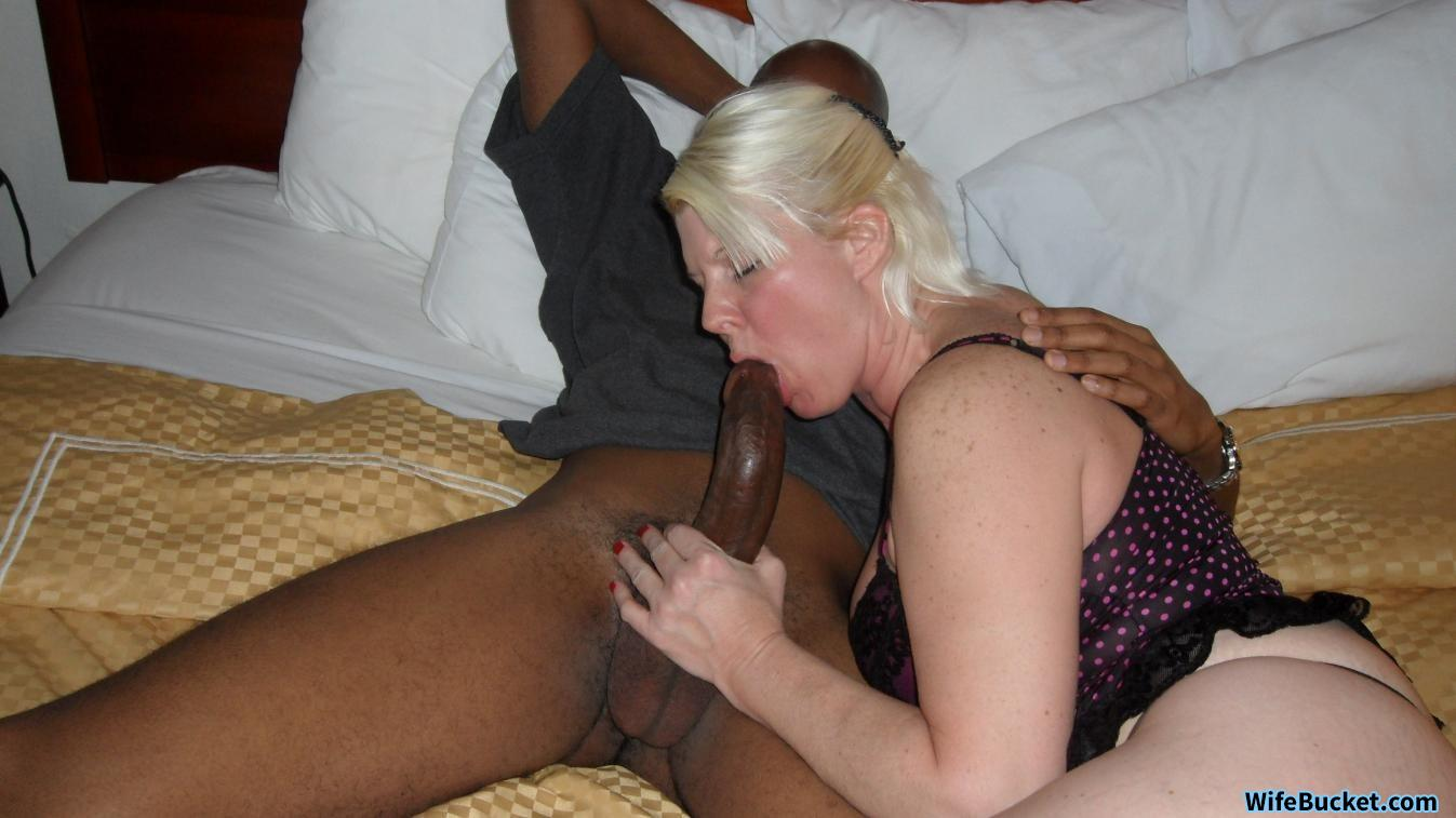 Leigh Black on white with slut wife