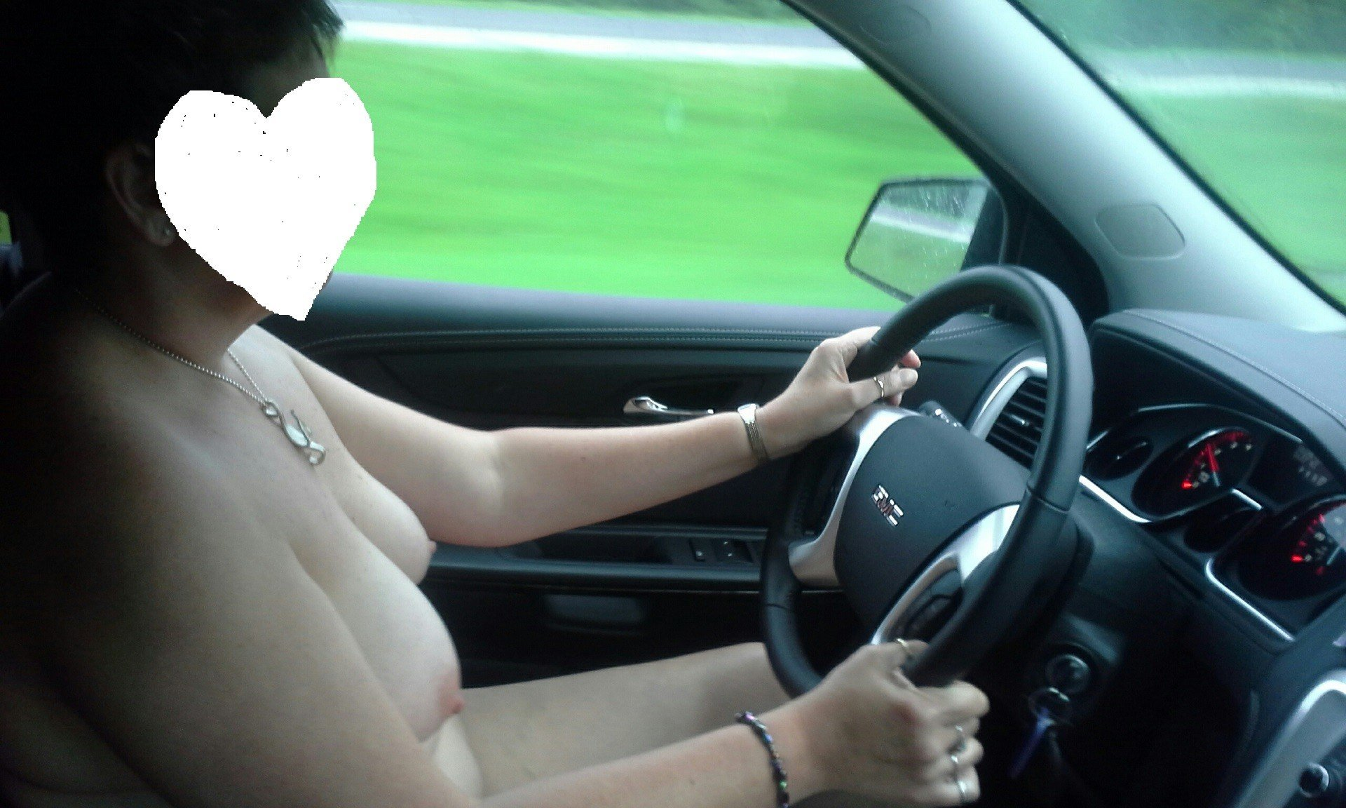 Wife driving all naked