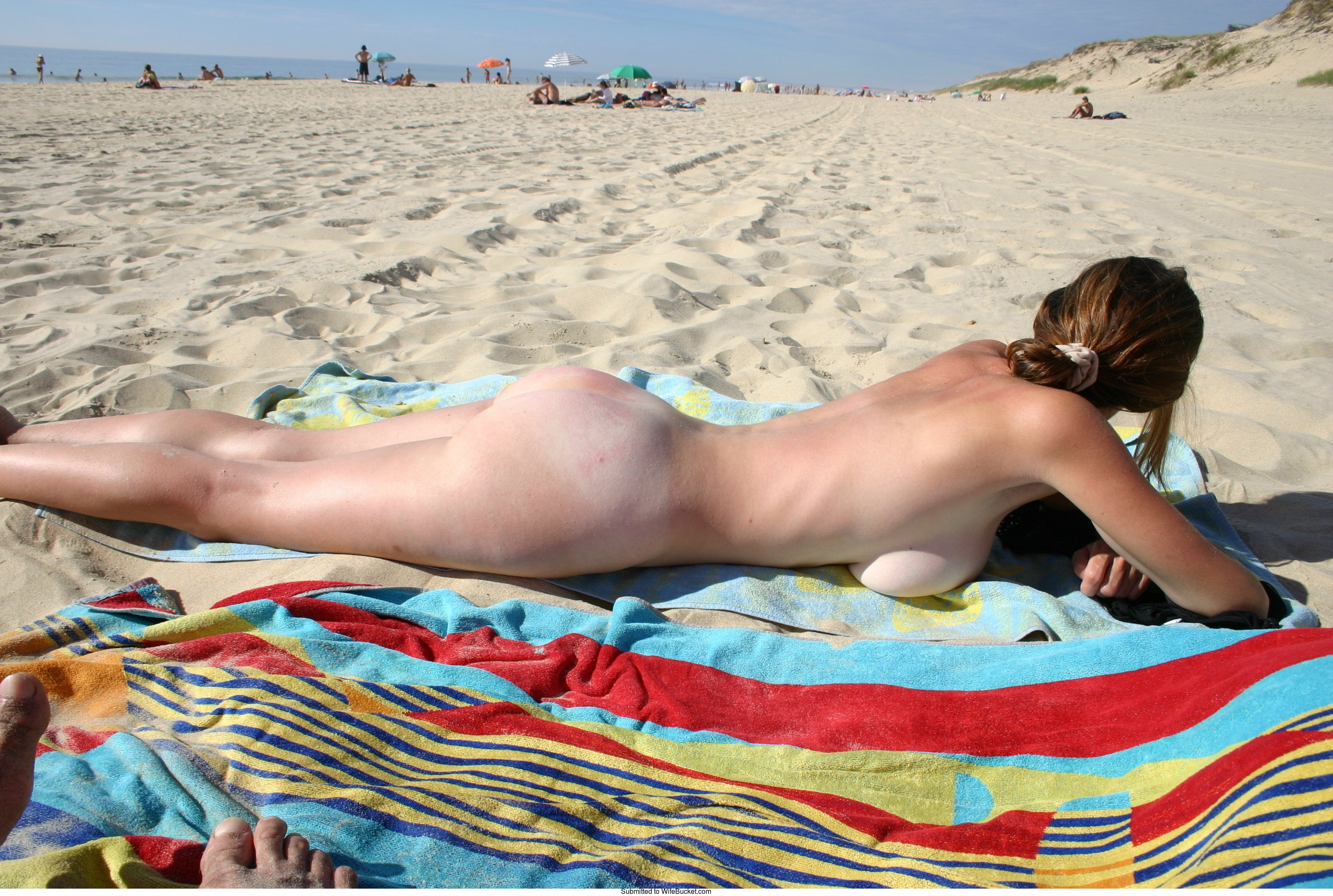Ass nudist beach wife hot black