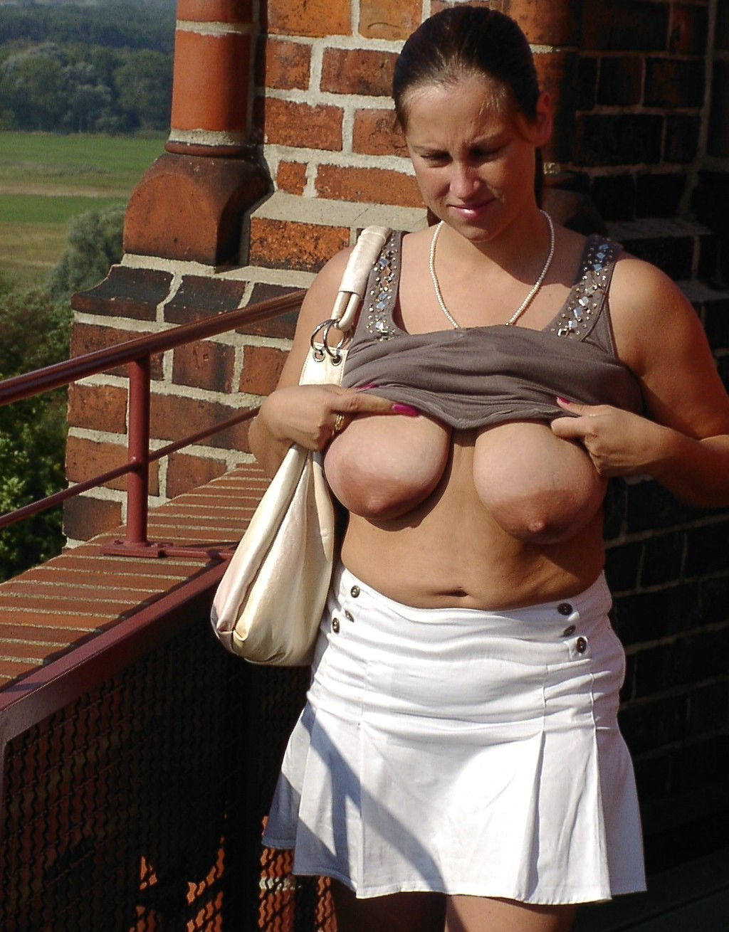 Gallery Of A Russian Wife With Big, Saggy Tits -8141
