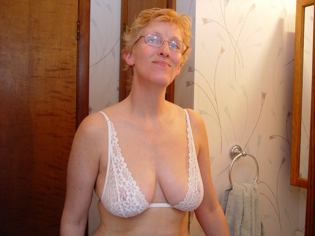 a nice set of amateur mature tits