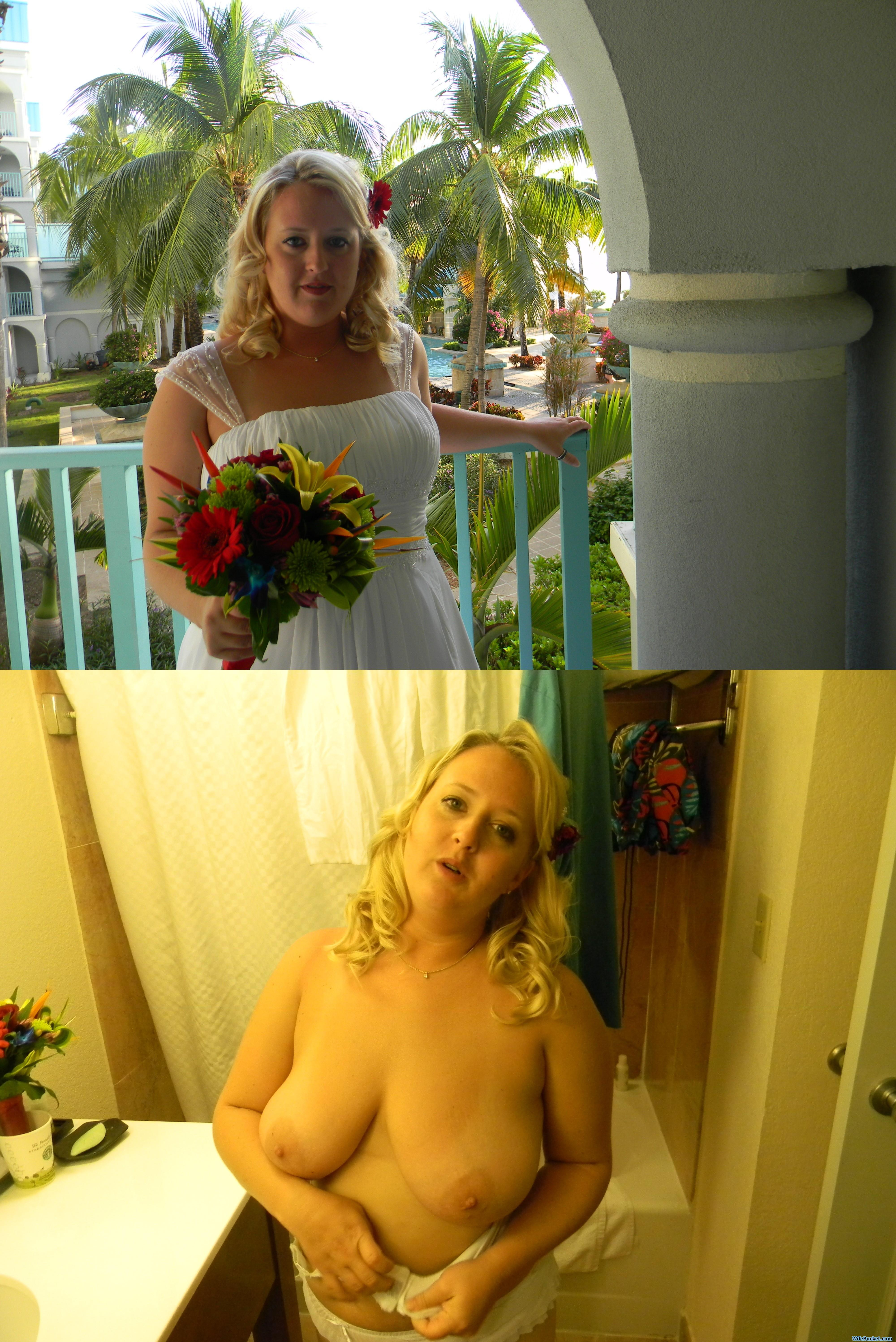 Before-after nudes of sexy amateur brides! Some home porn ...