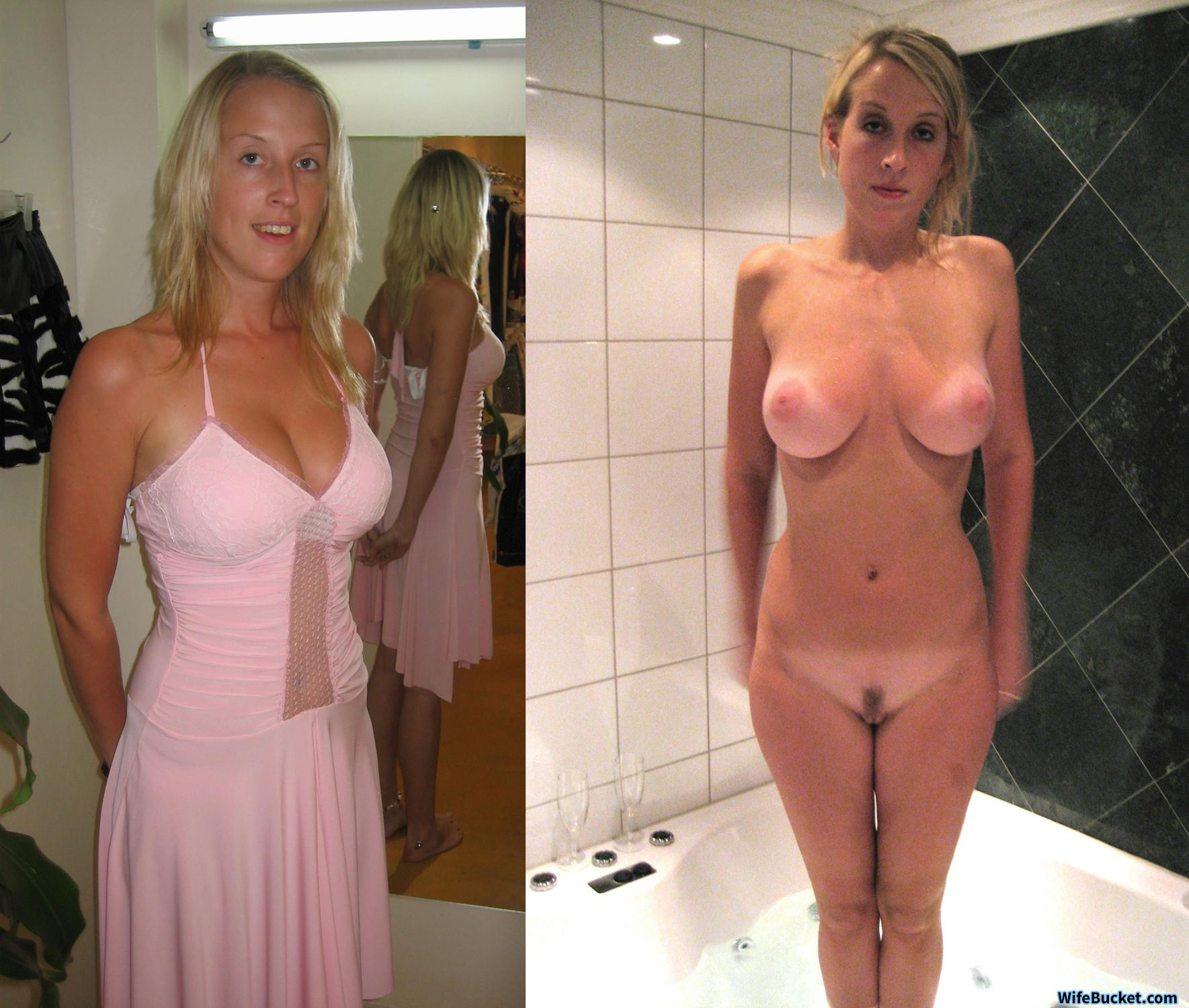 Wives dressed and naked before after possible