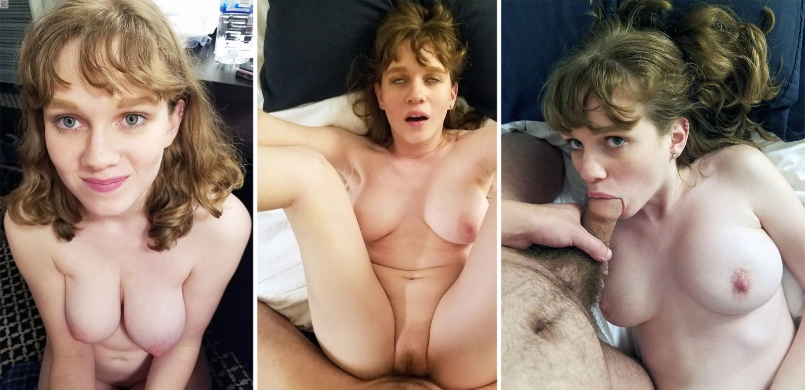 Redhead with dick in mouth