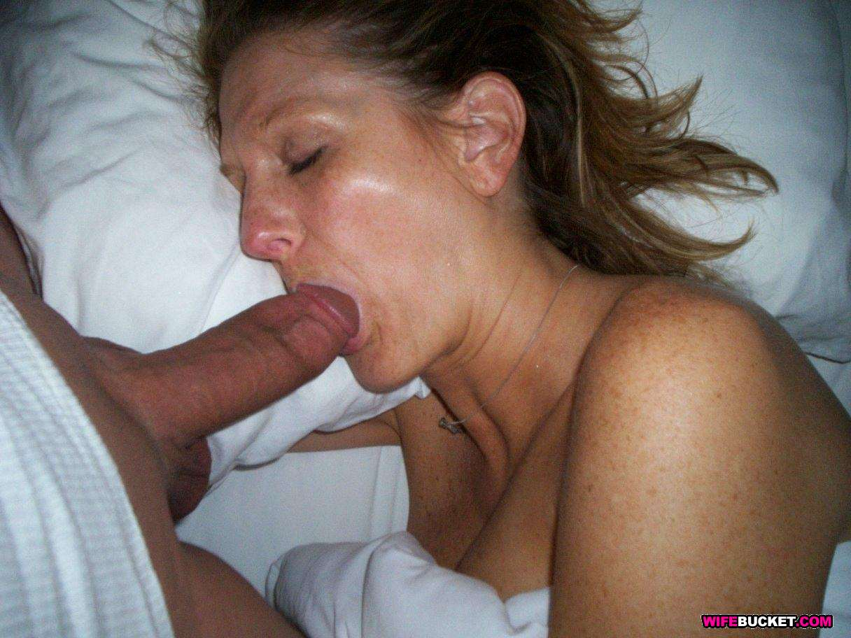 Lustful wife unfaithful sucking my cock 01