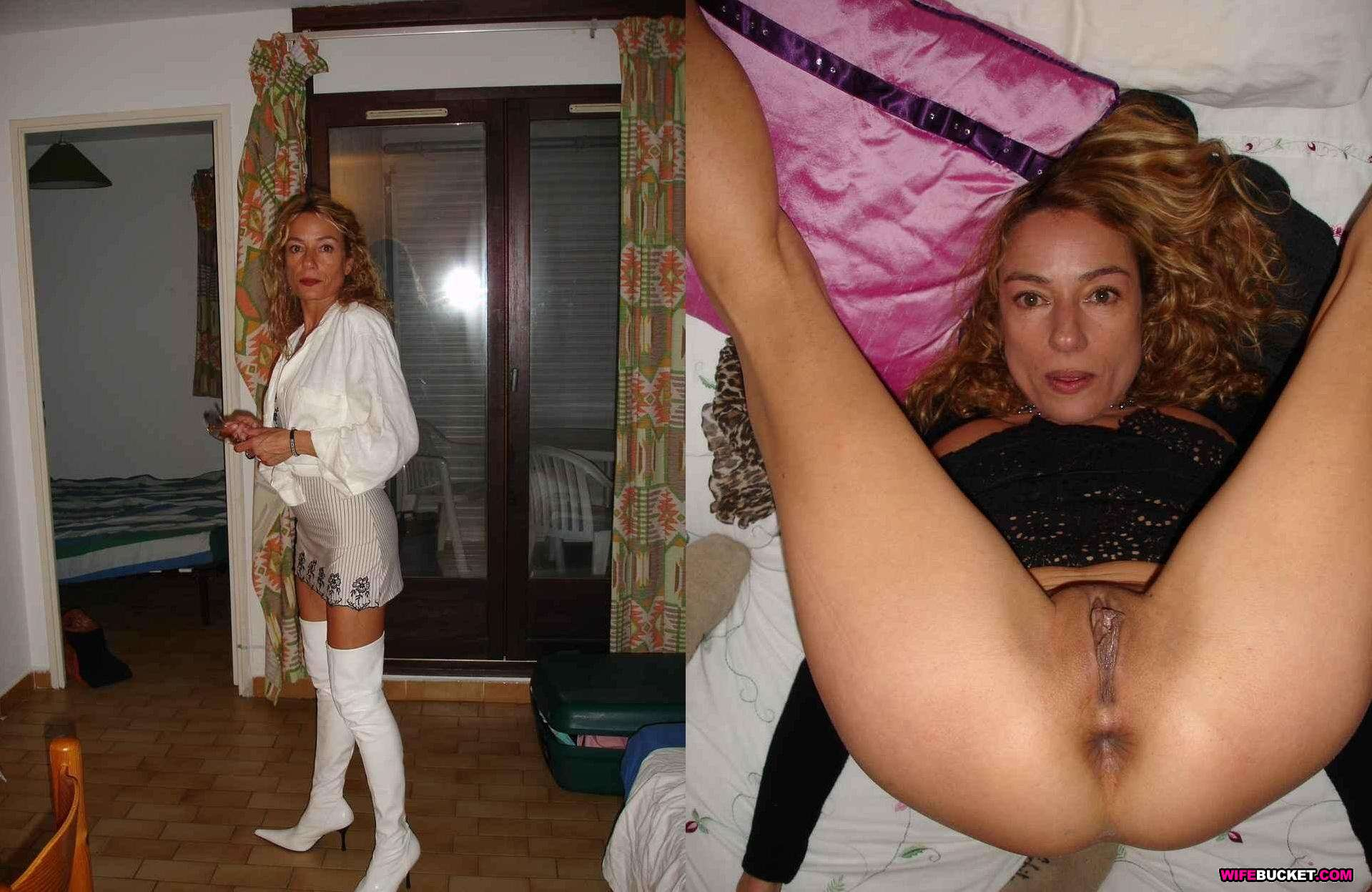 Milf nude wife before after right! seems